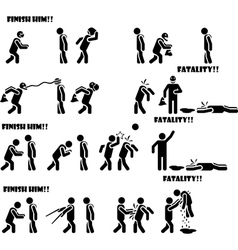 Icon man fatality 3 di 3 vector