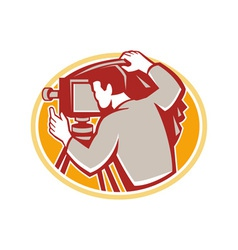 Photographer vintage camera rear retro vector