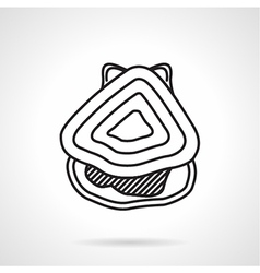 Oyster black line icon vector