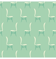 Vintage restaurant chairs seamless pattern vector