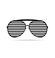 Sunglasses black and white vector