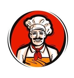 restaurant cafe logo fresh food cooking vector image