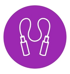 Jumping rope line icon vector