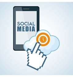 Social media design smartphone icon networking vector image