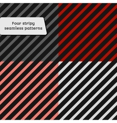 Set of simple retro geometric striped pattern vector