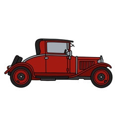 Vintage red coupe vector