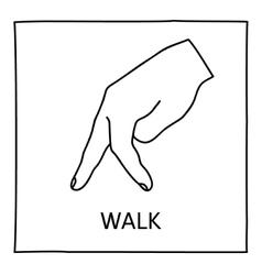 Doodle walk icon vector