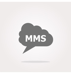 mms glossy web icon isolated on white vector image