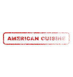 american cuisine rubber stamp vector image