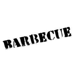 Barbecue stamp rubber grunge vector image