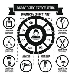 Barbershop infographic concept simple style vector