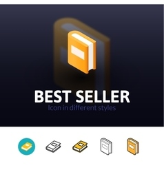 Best seller icon in different style vector image vector image
