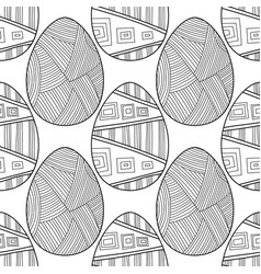 Black and white seamless pattern of decorative vector