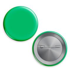blank green badge realistic vector image vector image