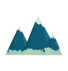 blue mountains with ice on topthe mountains in vector image vector image