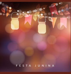 brazilian june party festa junina midsummer vector image