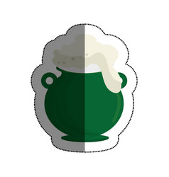 cauldron with beer icon vector image