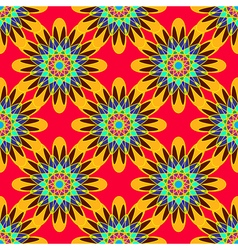 Coloful symmetric seamless pattern with flower for vector
