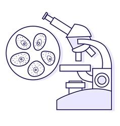 Cytological tests medical llustration vector image
