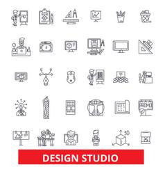 Design studio workshop office agency company vector