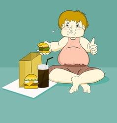fat boy vector image vector image
