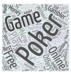 free online poker games Word Cloud Concept vector image vector image