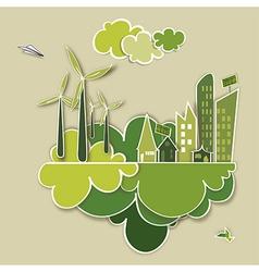 Go green concept city vector image