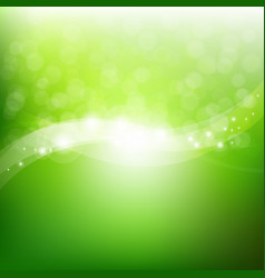 Green nature poster vector