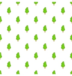 Green tree pattern cartoon style vector image vector image