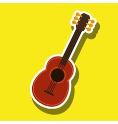 guitar isolated design vector image