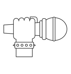 Hand microphone icon outline style vector
