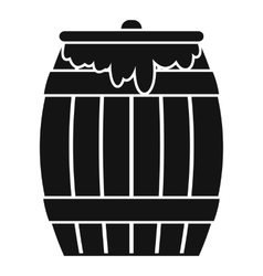 Honey keg icon simple style vector