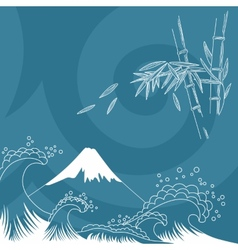 Japan style vector image