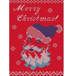 Knitted Sweater card vector image vector image