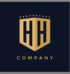 letter hh logo design vector image vector image