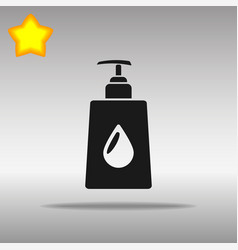 Liquid soap black icon button logo symbol vector
