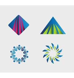 Logo template design vector image