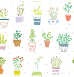 Many herbs kitchen seamless pattern - nice design vector image vector image