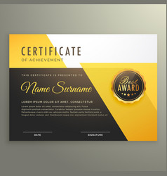 modern certificate template with clean geometric vector image vector image
