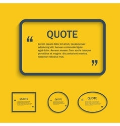 Quote text box line vector
