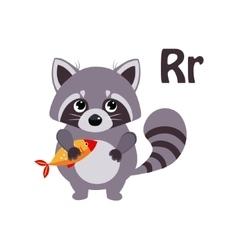 Raccoon Funny Alphabet Animal vector image