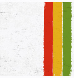 Rasta colors grunge background abstract template vector