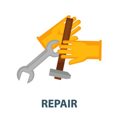 repair service promotional poster with rubber vector image vector image