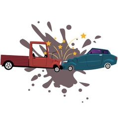 Road collision vector image
