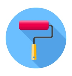 Roller brush flat design icon vector