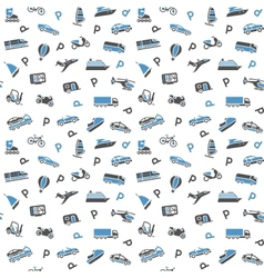 Seamless background transport icons wallpaper vector image