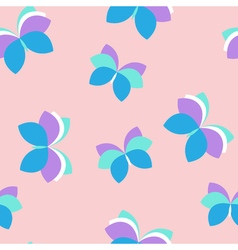 Seamless pink pattern with purple and blue vector