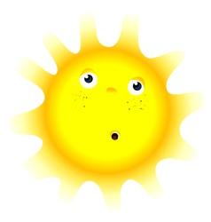 sun cartoon vector image vector image