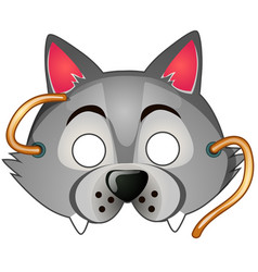 Wolf mask carnival and masquerade accessories vector