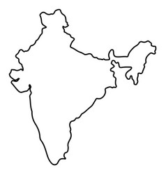 Isolated Indian Map Royalty Free Vector Image VectorStock - India map vector